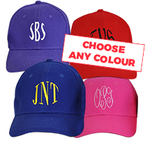 4 x Personalised Cap - Any Colour incl Delivery