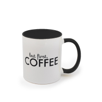 Mug Black Coloured 325ml incl Delivery