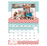 Personalised A4 Double Calendar