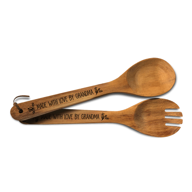 Acacia Utensils - 2 Pack (Fork and Spoon set)